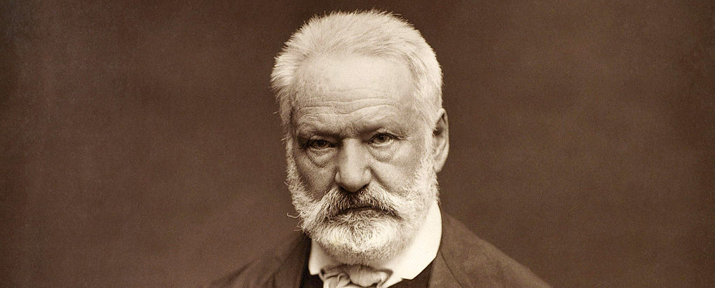 Portrait photograph of Victor Hugo
