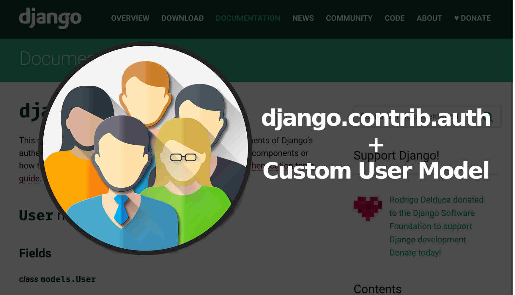 Django users with contrib auth module